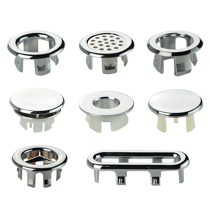 Chrome Plated Basin Overflow Insert